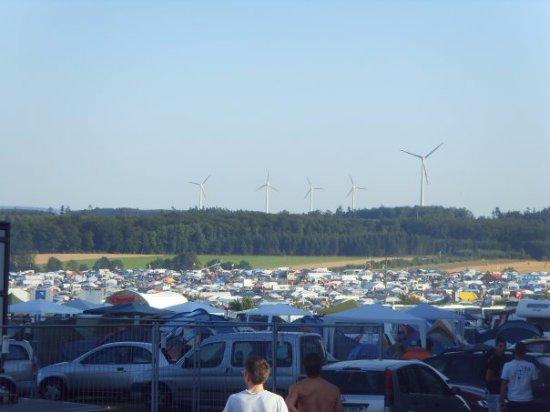 Kastellaun, Jerman: Кемпинг-зона фестиваля
