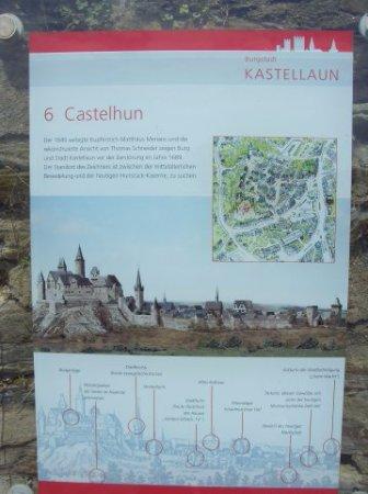 Kastellaun, Jerman: Информационные таблички расскажут вам о всех замках, находящихся на этой земле