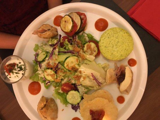 Le plat dans l'assiette: superbe :)