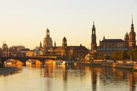 Germany: Dresden along the river Elbe