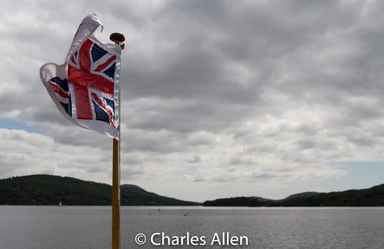 Bowness-on-Windermere, UK: Flying the flag.