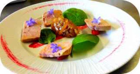 Entrechaux, França: foie gras