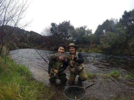 Taupo, Yeni Zelanda: Amazing fishing guide!👍🏻👍🏻