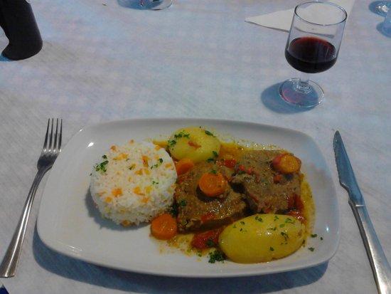 Faja Grande, Portugal: Stewed beef (13 euros)