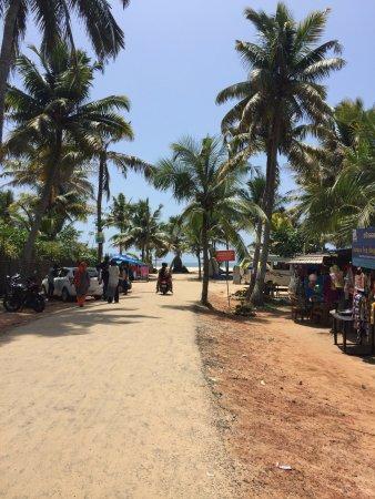 Marari Beach: beach road ends here