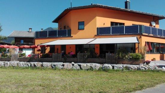 Kossen, Áustria: Blick auf die Terrasse !