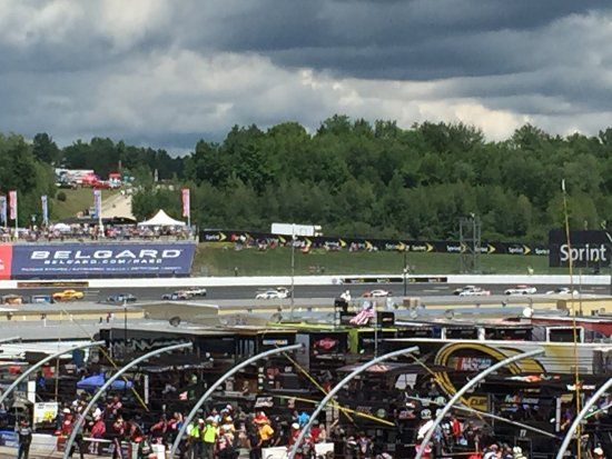 Loudon, NH : Dark clouds rolling in during the race.