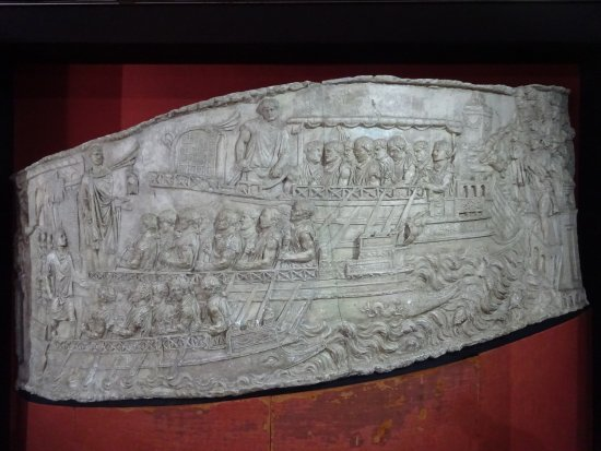Fishbourne Roman Palace: A cast from the Trajan pillar in Rome.