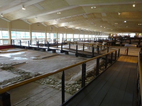 Fishbourne Roman Palace: Mosaic floors - all under cover. Join a free half hour guided talk.