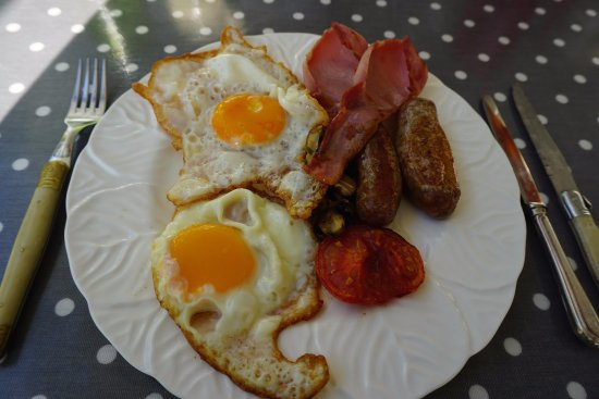 Stokenham, UK : The nice breakfast I was served