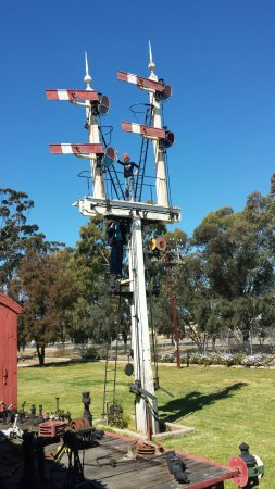 Merredin, Austrália: Atop the signal tower!