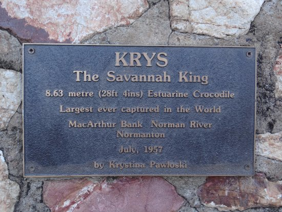2af446c7cdee3d The Plaque - Picture of Krys the Crocodile