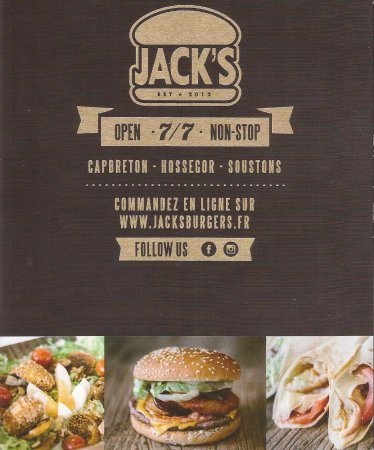 Jack 39 s burgers soustons route de tosse restaurant for Restaurant soustons