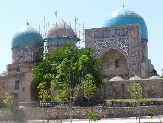 Shakhrisabz, Usbekistan: Dorut Tilovat being restored