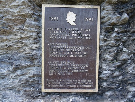 Reichenbach Falls: Plaque
