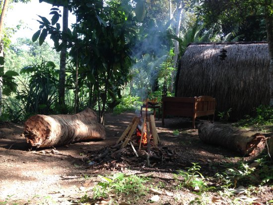 Tetebatu, Indonesien: bonfire place make it feel's more like camping