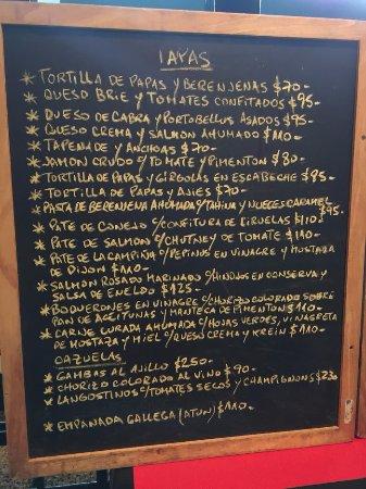 Cafe San Juan: Carta entradas