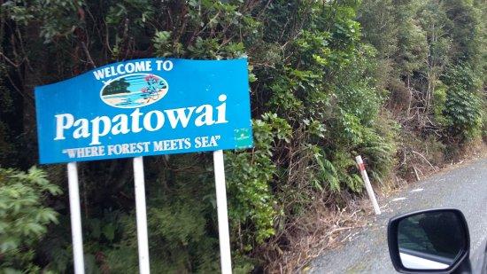 Papatowai, Nieuw-Zeeland: panneau indicateur