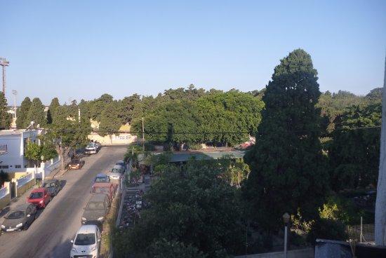 โรงแรมซิลเวีย: Вид из номера - видна часть стадиона