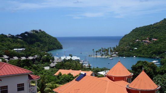 Gros Islet, Saint Lucia: View from our lunch stop