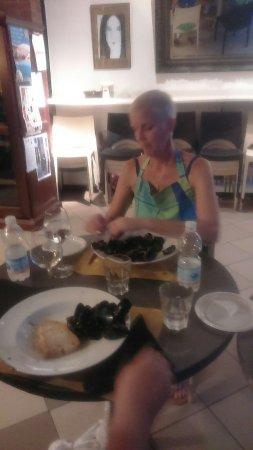 Пиомбино, Италия: Cooking Class and wine pairing!! Fish menu and Val di Cornia D.O.C. Wines