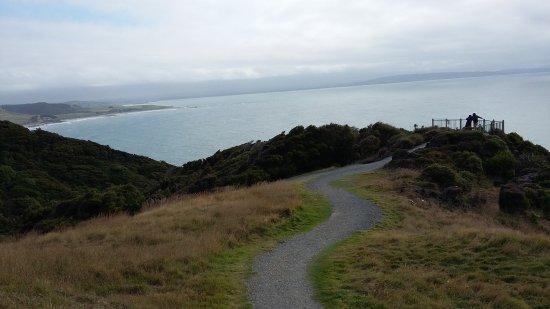 Nugget Point: vue au début du sentier