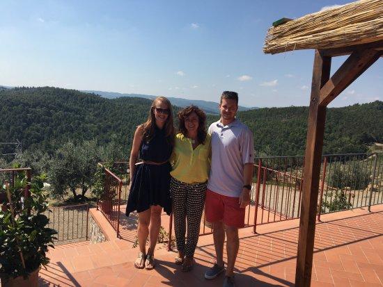 Wine Tour in Tuscany: Us & Donatella!