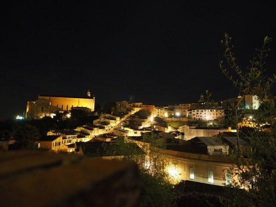 Hotel Minerva: Vista notturna dalla terrazza della camera