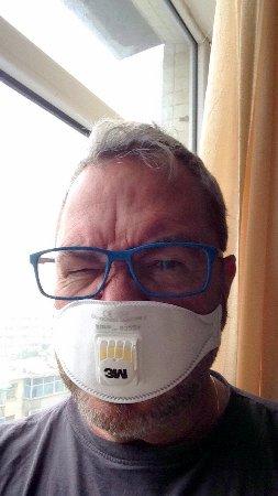 Taiyuan, China: masker op: smog!