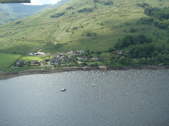 Loch Goil, UK: 'Rowan House' from above