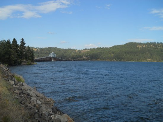 Plummer, ID: Bridge over Chatcolet Lake, St. Joe River, and Round Lake