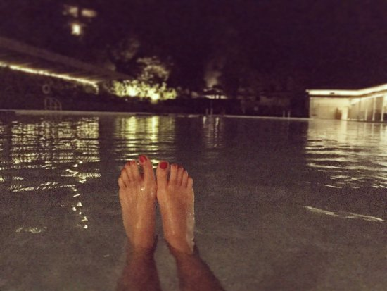 Indian Springs Resort and Spa: I can cross this off my Bucket List now! Night swimming in a geyser-fed pool.