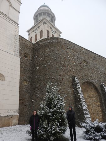 Pannonhalma Abbey: The snow was beautiful