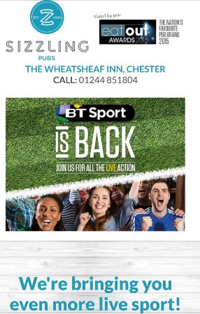 Mollington, UK: Sky & BT sports, showing 2 sports at once