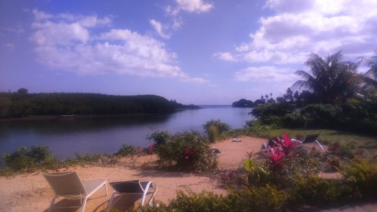 Riviere Noire District: Beach area with views across the black river and out to sea