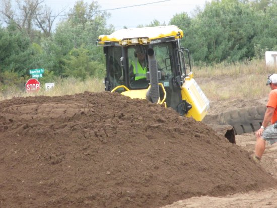 Hastings, MN: Creating a hill to drive over