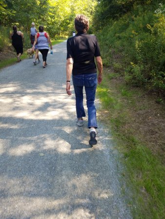Belfast, ME: Hikers of Every Are to be Seen on the Rail Trail