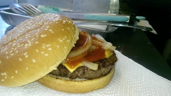 Bolton, UK: One of our Chesseburgers