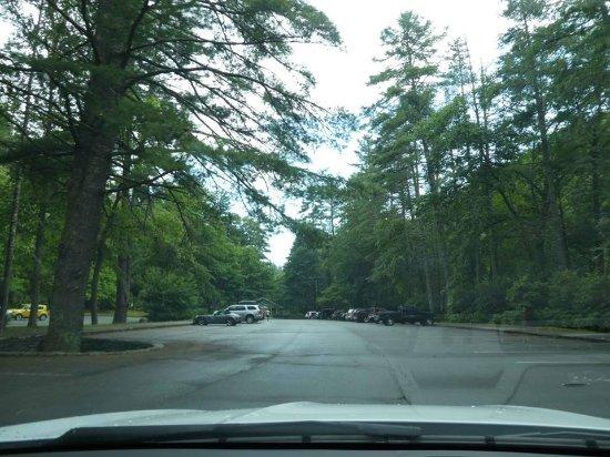 Linville Falls, Carolina del Nord: estacionamento.