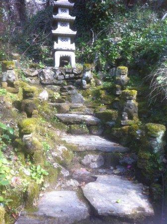 The Japanese Garden: Pagoda With Foo Dogs