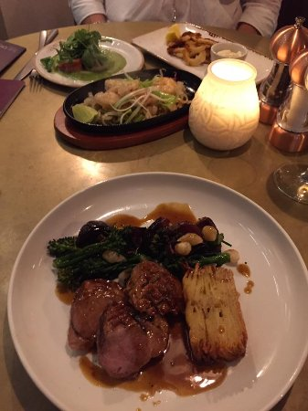 Burton upon Trent, UK: Duck breast and pomme Anna,