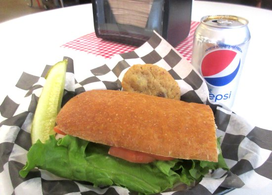 Turkey Sandwich with Pickle and Cookie, Carousel Deli, Cottage Grove, Oregon