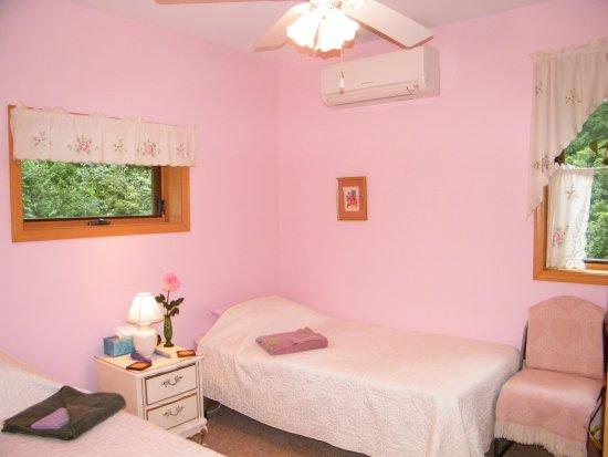 Rose room at the Self Realization Meditation Healing Centre, Bath MI USA