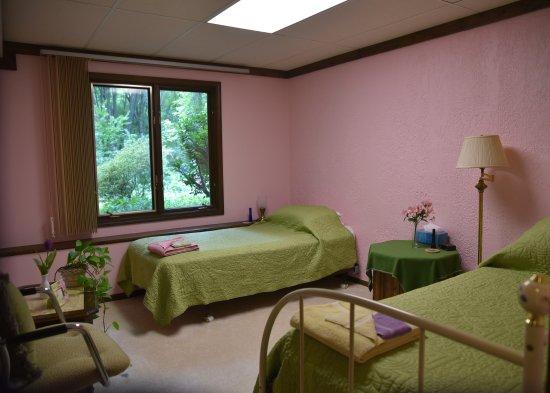 Freesia room at the Self Realization Meditation Healing Centre, Bath MI USA