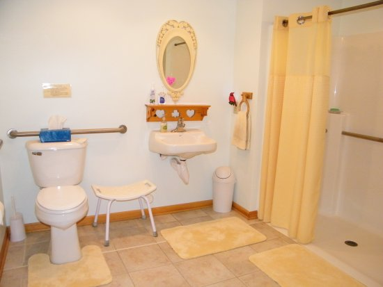 accessible bathroom at the Self Realization Meditation Healing Centre, Bath MI USA