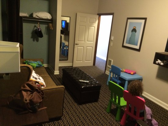 Kids Room With Pullout Couch In Same Room As Bunk Beds Picture Of