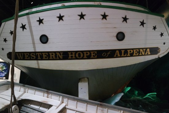 Alpena, MI: This display allows you to come on board and experience a storm .