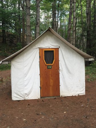 The Forks, ME: tent cabin 13