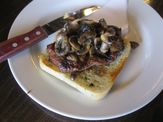 Airdrie, Canada: 5oz Steak with Mushrooms