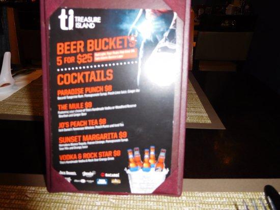 Pho at Treasure Island: Drink specials